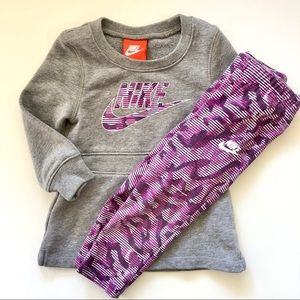 Nike outfit dress/tunic and leggings